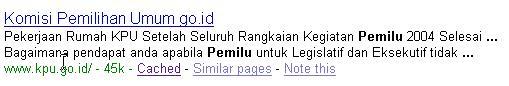 contoh ringkasan di google